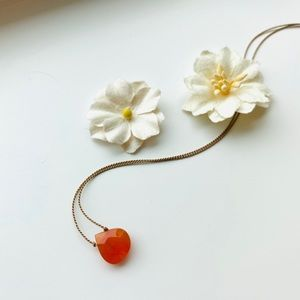 Carnelian Teardrop Necklace